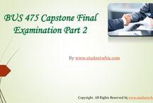 BUS 475 Capstone Final Exam Part 2