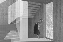 建築表現:白黒