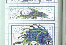 Cross stitch marine life