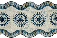 Stormy Seas Table Runner / For more information about the Stormy Seas Table Runner pattern, visit http://www.quiltworx.com/patterns/stormy-seas-table-runner/. To be taken directly back to this pattern page on Quiltworx.com, simply click on any of the images below.  / by Quiltworx Judy Niemeyer