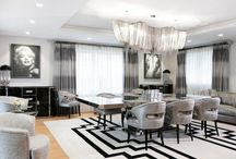 Luxury Dining Rooms / What makes a luxurious dining room? Bring in stylish chairs with sumptuous fabric, paint the walls an unexpected hue, show off your favourite dining accessories, add a chandelier with an artistic focal point or find a luscious rug to pull it all together.