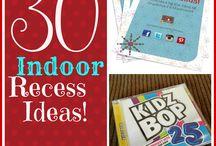 Teach: Indoor Recess / Activity ideas for indoor recess in an elementary classroom.