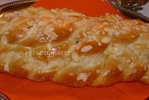 chlieb, rozky, vianocka