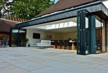 Projects - Aluminium bifolding doors / Sunflex aluminium bifolding doors offer slim sightlines, contemporary, square edged profiles throughout and colour matched furniture in line with the frame make Sunflex doors the best looking on the market. Choose between our award-winning SF55 and SF75.   http://sunflexuk.co.uk/bifold-doors/aluminium-sf55-sf75/