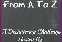 Decluttering From A To Z / This board has all the posts from the Decluttering From A to Z challenge.