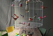 Hanglamp met vogels