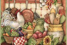 mutfak temalı dekupajlar