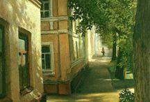 Художники и города