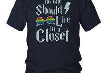 No One Should Live In A Closet Funny LGBT Pride T Shirt