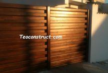 Modele porti din lemn / Aici dorim sa ve prezentam diferite modele de porti din lemn executate pe structura metalica pentru casa dumneavoastra.