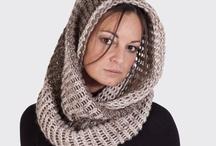 cuello capucha de lana tejido amano