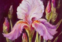 Iris Paintings by Nel Whatmore / It is Paintings in Pastel and Oil