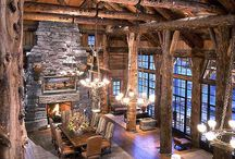 ARCHITECTURE Log Homes / by Ronnie Turner