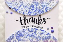 """Stamp:Lace Background / Handmade cards featuring the stamp """"Lace Background"""" by My Favorite Things."""