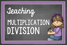 Multiplication and Division / Activities, ideas, and resources for teaching multiplication and division with deep conceptual understanding / by Math Coach's Corner