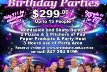 Birthday Parties /  Orbit Skate Center offers the best Birthday Parties on the planet! All ages, from child to adult can have a terrific time with their friends celebrating their birthday! Affordable Packages and we clean up the mess. Bring your friends and see how memories are made.