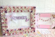 Album/libro de firmas para Baby Shower con caja llena de Rosas