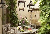 Garden seating areas