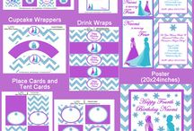 Frozen Birthday Party Ideas - Anna and Elsa / by Lillian Hope Designs