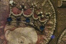 Medieval goldwork embroidery