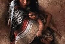 Art - Lee Bogle / Native American portraits.