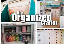 Craft space - organization,  DIY, storage, boxes / by Joanna