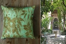 Rubus Idaeus / Textile collection of Enjoy Home studio. Natural fabrics and hand-made prints!