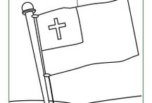 Christian Pledge and Flag Printable Learning Activities / The Christian Pledge is often used with children to encourage devotion and faithfulness to Jesus. These activities help acquaint kids with the pledge and the flag that often accompanies the use of the pledge.
