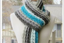 Crochet hats, scarves and shawls