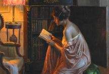 Damas antigas e Livros / Sempre mulheres rodeadas de livros, por buscarem nos romances algo mais para suas vidas
