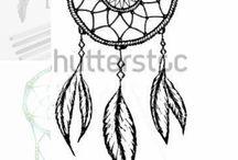 Dream Catchers string art templates