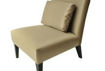 Modern Classic New Beige Silk Fabric & Wooden Legs Sonea Chair With Cushion