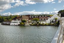 Macdonald Compleat Angler at Marlow / A riverside hotel at Marlow, within easy reach of Heathrow airport, but quietly nestled on the banks of the River Thames,next to the cascading waters of Marlow Weir. It has two award winning restaurants.