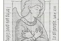 вышивка ангелы