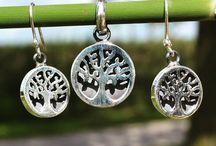 Zilveren sets (hanger en oorbellen)