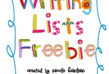 Kindergarten Writing: Lists / This board includes ideas, activities, and resources for teaching list writing in kindergarten.