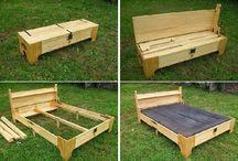 posteľ zahrada