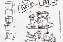 How to draw cake