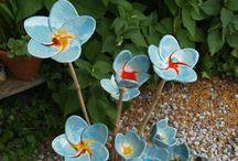 керамические цветы