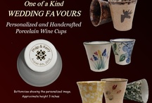 Unique Porcelain Wedding Favours / Porcelain Wine Cups as Wedding Favours can be decorated to match the theme of you wedding as well as custom stamped with wedding date.