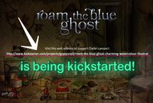 Roam the Blue Ghost - kickstarting this art project! / Roam the Blue Ghost is a collection of watercolour artworks about old and abandoned places and ghosts, & these are being turned into a book & limited edition prints on kickstarter! Come over to this link below and check it out and support the project. Many reward pledges to choose from, & an opportunity to own one of Chelle Destefano's limited edition pieces. https://www.kickstarter.com/projects/gypsysnail/roam-the-blue-ghost-charming-watercolour-illustrat
