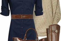 How to wear: navy dress