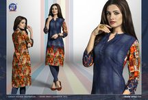 2370 Indigo rush Top Dot Kurtis Collection