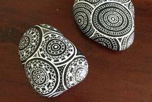 doodles på sten