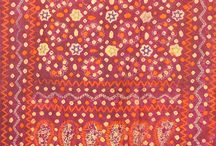 Kantha, Warli & Sujni / Kantha is a kind of embroidery, popular in West Bengal. The traditional form of this embroidery was done on soft dhotis and saris. The thread for this was drawn out of the borders of used cloth. It is a simple running stitch made on the edges. We at Weavers Studio, use kantha in garments, fabrics, scarves, home products, quilts and wall hangings.