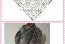 Tricot crochet chale