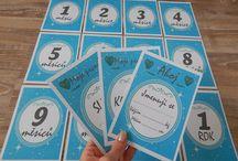 Milníkové kartičky - vlastní výroba