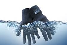 Waterproof Gloves / •Completely Waterproof and highly breathable •Water repellent glove outer •Fast anti bacterial moisture transfer performance inner •Superb dexterity with grip control. Grip dotting on palm, offering superb grip power and control  Seamless waterproof breathable close fitting gloves. Very dexterous and tactile suitable for running, cycling, riding, motorbiking, fishing, hunting, walking infact most activities in wet and outdoor environments.