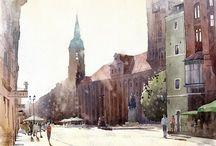 Art - Watercolor - Wróbel