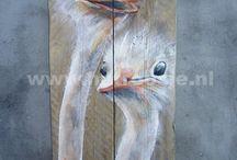 Schilderen op sloophout